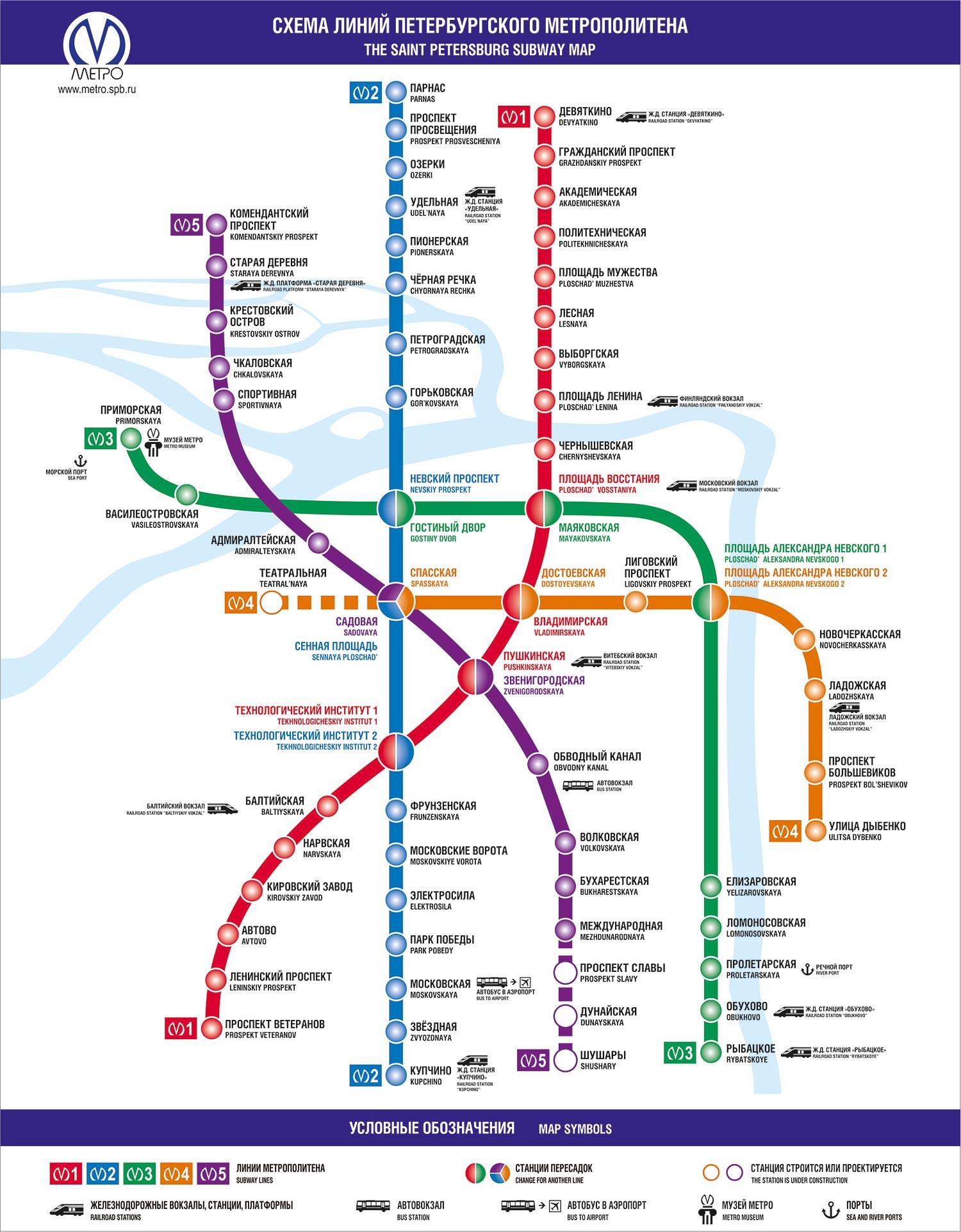 перспективная схема метро санкт петербурга подземка